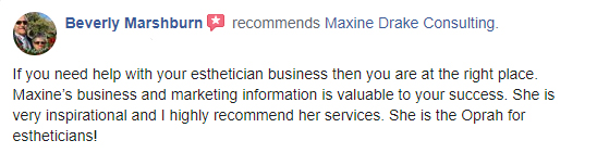 Maxine Drake Consulting testimonial - Beverly Marshburn