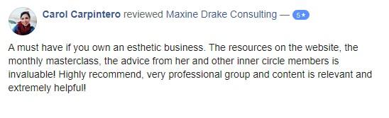Maxine Drake Consulting testimonial - Carol Carpintero