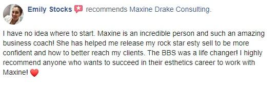Maxine Drake Consulting testimonial - Emily Stocks