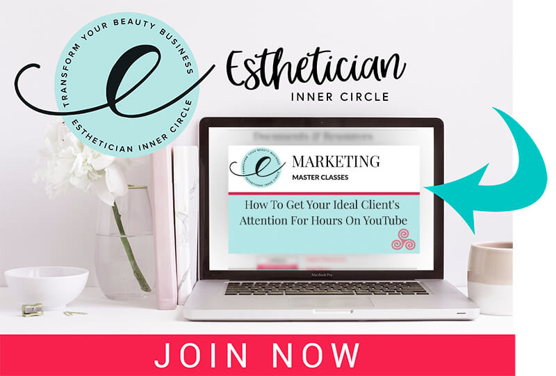 Maxine Drake masterclass how to get more esthetician clients from youtube