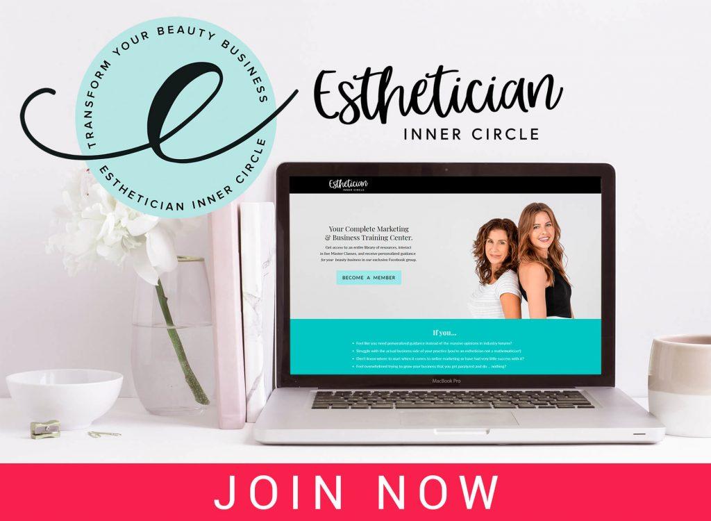 beauty business coaching maxine drake esthetician inner circle membership button
