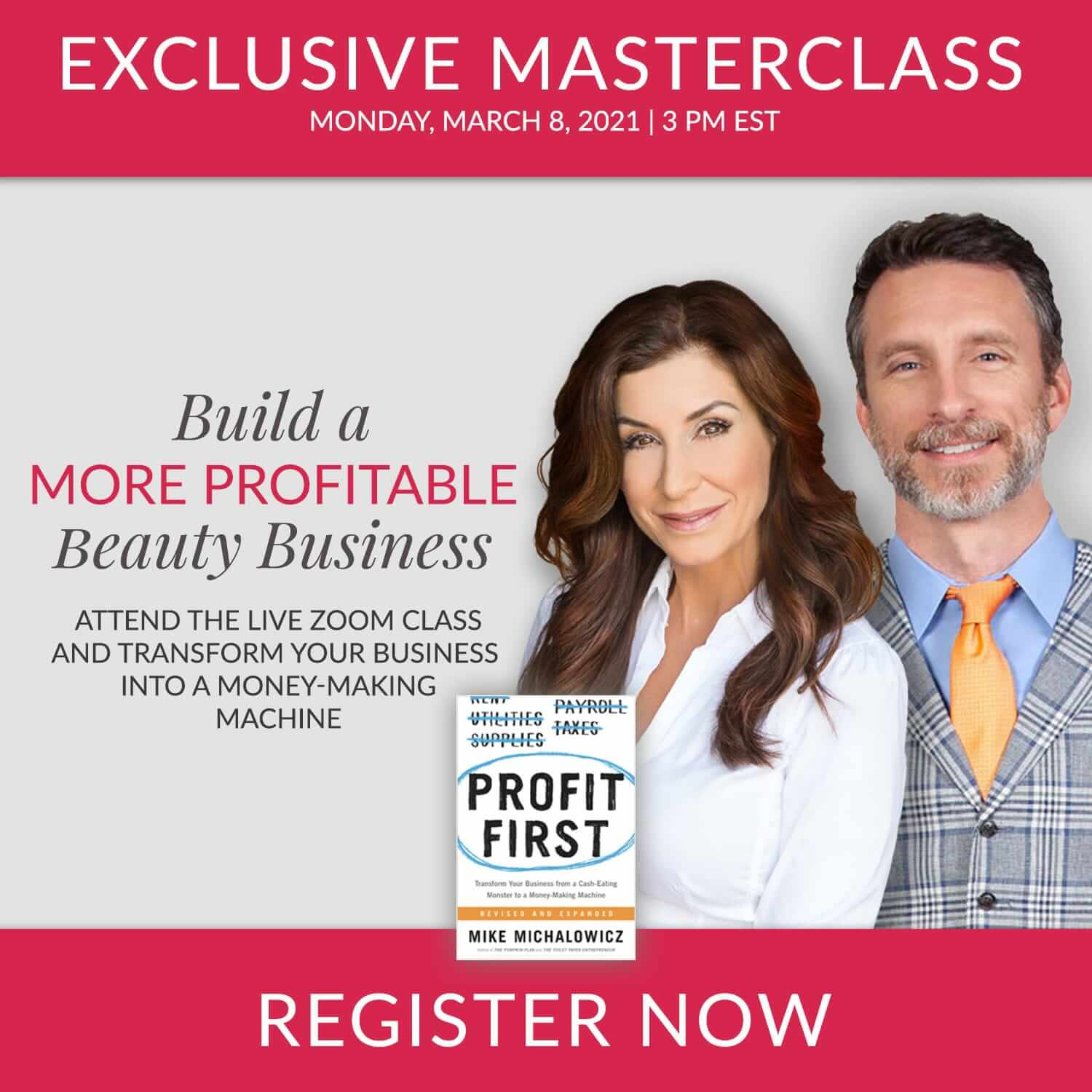 Esthetician Inner Circle Masterclass - Profit First March 8th, 2021